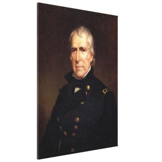 ZACHARY TAYLOR Portrait by James Reid Lambdin Gallery Wrap Canvas