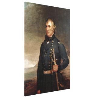 ZACHARY TAYLOR Portrait by Joseph Henry Bush Print Gallery Wrapped Canvas