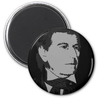 Zachary Taylor silhouette 2 Inch Round Magnet