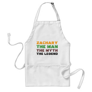 Zachary the man, the myth, the legend adult apron