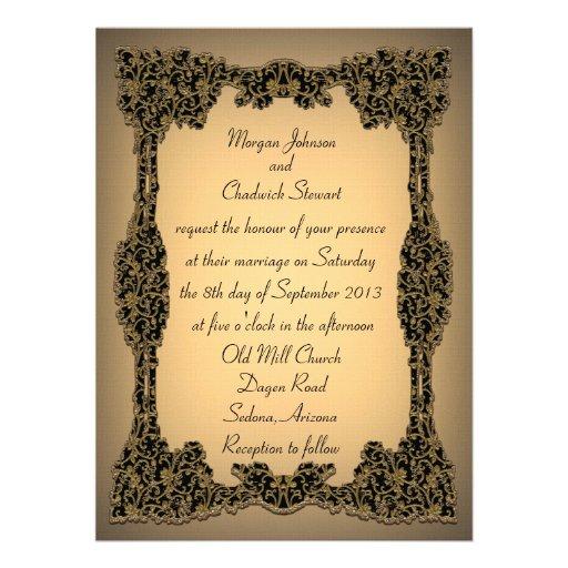 """Zachée Formal Wedding Invitation 5.5"""" x 7.5"""""""