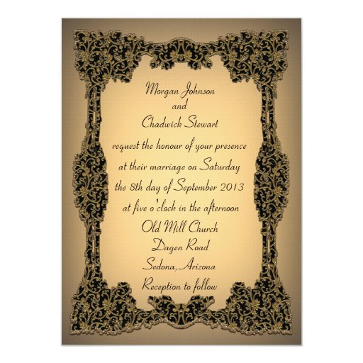 "Zachée Formal Wedding Invitation 5.5"" x 7.5"""