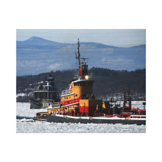 Zachery northbound at the Hudson Athens Light Canvas Print