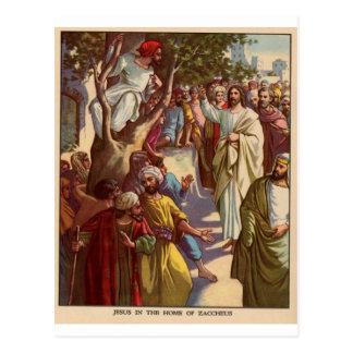 Zacheus ve a Jesús Tarjetas Postales