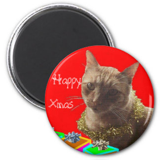 Zack el gato de Navidad Imán Redondo 5 Cm