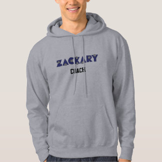 Zackary in Soccer Blue Hooded Sweatshirt
