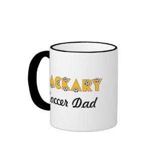 Zackary in Soccer Gold Ringer Coffee Mug