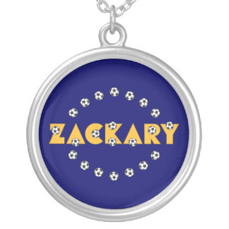 Zackary in Soccer Yellow Pendant
