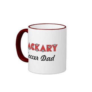 Zackary Soccer Red Ringer Coffee Mug