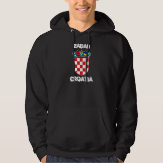 Zadar, Croatia with coat of arms Hoodie