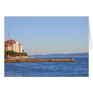 Zadar Sea Pier in Croatia Card