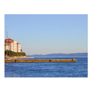 Zadar Sea Pier in Croatia Postcard