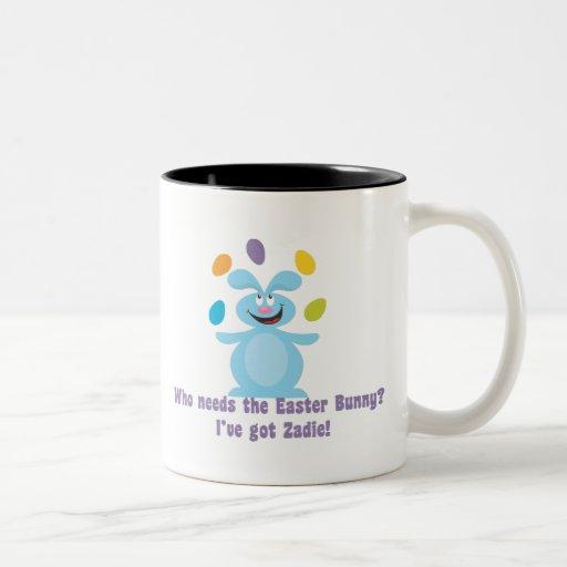 Zadie es mi conejito de pascua tazas de café