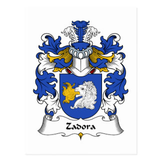 Zadora Family Crest Postcard