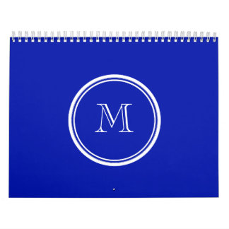 Zaffre Blue High End Colored Calendar