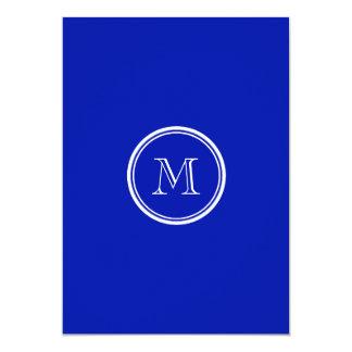 Zaffre Blue High End Colored 5x7 Paper Invitation Card