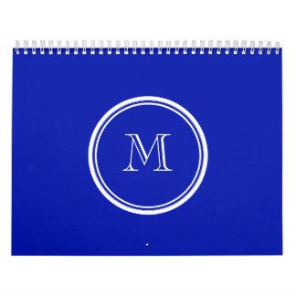 Zaffre Blue High End Colored Wall Calendar
