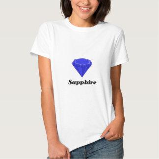 Zafiro de las series de la camiseta de Birthstone Playeras