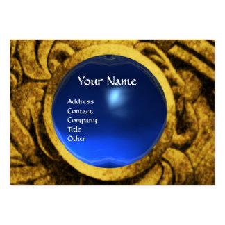 Zafiro del azul del oro del MONOGRAMA de GRYPHONS Tarjetas De Visita Grandes