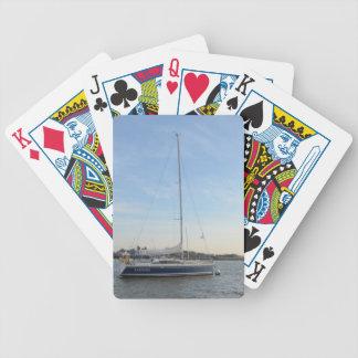 Zafiro del yate baraja de cartas
