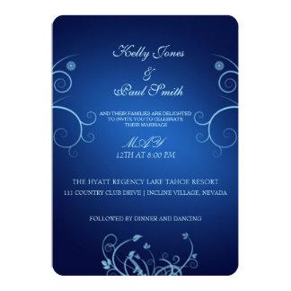 """Zafiro floral delicioso invitación 5"""" x 7"""""""