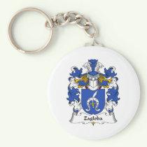 Zagloba Family Crest Keychain
