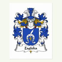 Zagloba Family Crest Postcard