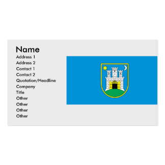 zagreb, Croatia Business Card Template