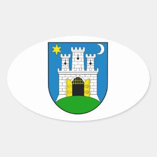 Zagreb Croatia Oval Sticker
