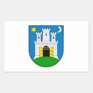Zagreb Croatia Rectangular Sticker