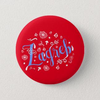 Zagreb Doodles Croatian Badge Button