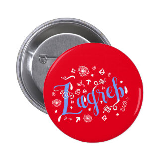 Zagreb Doodles Croatian Badge Button