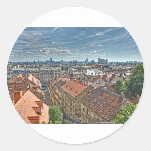 Zagreb Round Sticker