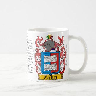 Zahn, el origen, el significado y el escudo taza