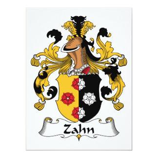 Zahn Family Crest 6.5x8.75 Paper Invitation Card