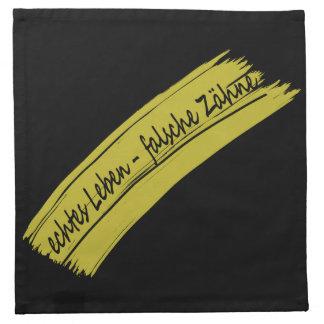 zähne servilletas de papel