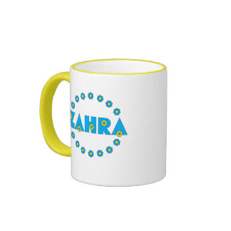 Zahra In Flores Blue Ringer Coffee Mug