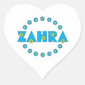 Zahra In Flores Blue Heart Sticker