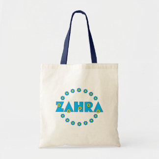 Zahra In Flores Blue Tote Bag