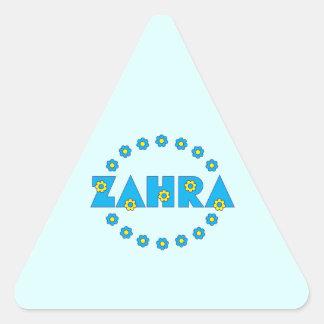 Zahra In Flores Blue Triangle Sticker