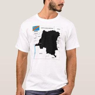 zaire congo country political map flag T-Shirt
