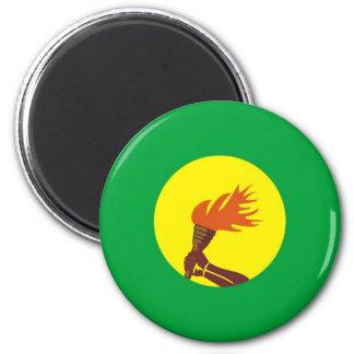 Zaire-Congo flag Refrigerator Magnets