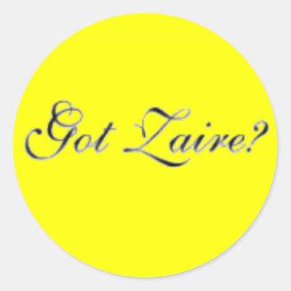 "Zaire ""Congo"" (Got Zaire) T-Shirt and etc Classic Round Sticker"