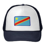 Zaire flag embroidered effect hat