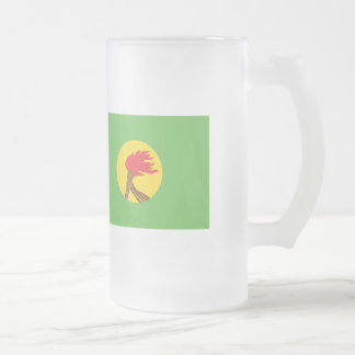 Zaire Flag Frosted Glass Beer Mug