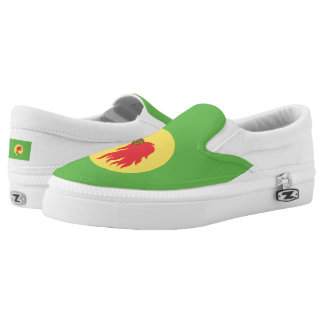 Zaire Flag -.png Slip-On Sneakers