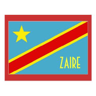 Zaire flag postcard