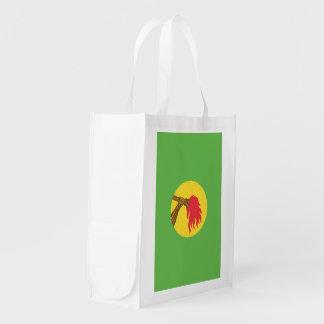 Zaire Flag Reusable Grocery Bag
