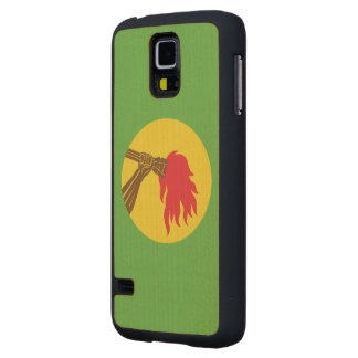 Zaire Flag Carved® Maple Galaxy S5 Slim Case