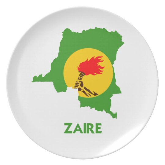 ZAIRE MAP DINNER PLATE